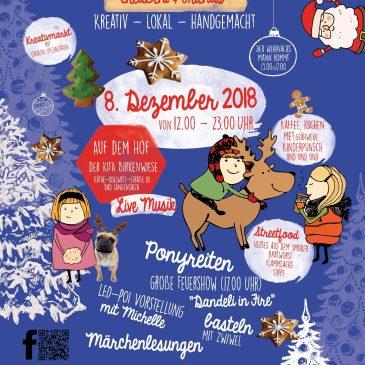 BLU unterstützt den Weihnachtsmarkt auf dem Hof der Kita Birkenwiese