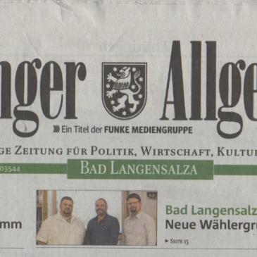 BLU Gründung in der Thüringer Allgemeine