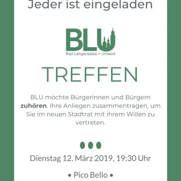 BLU Treffen – Dienstag 12. März 2019 in Bad Langensalza