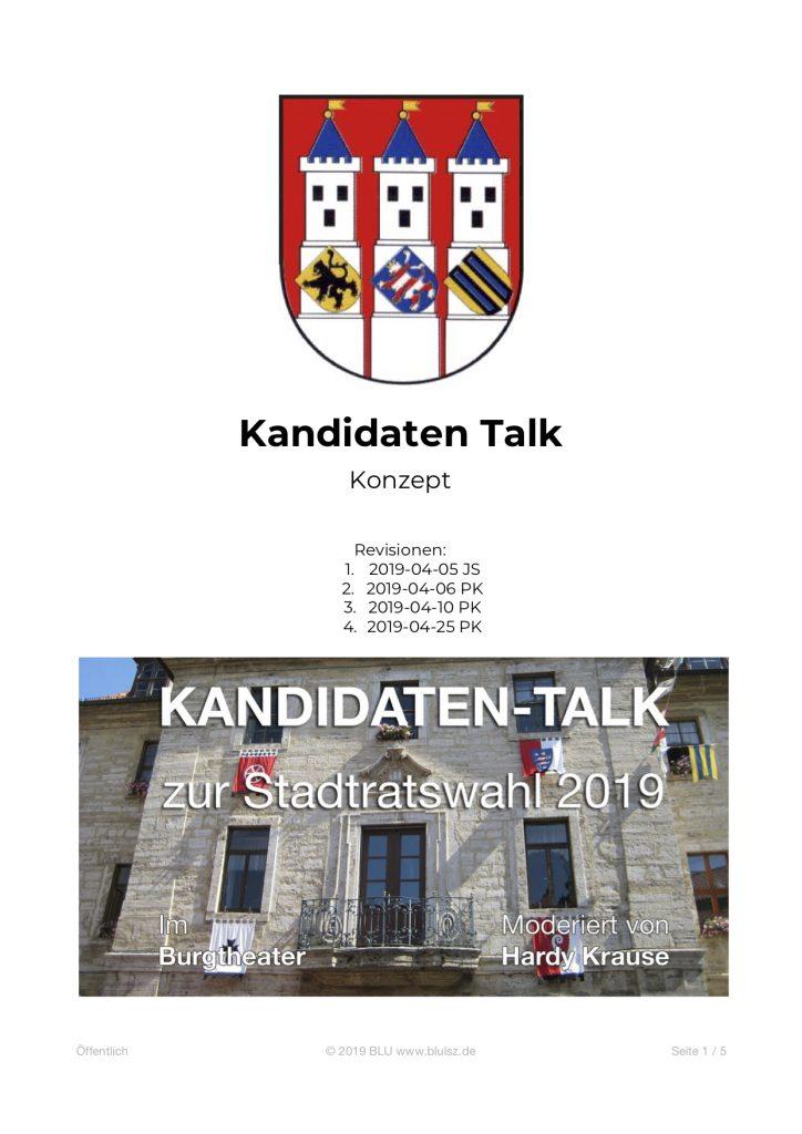 Kandidaten-Talk Konzept