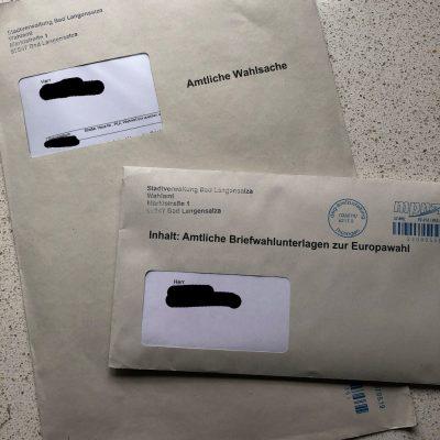 Amtliche Briefwahlunterlagen