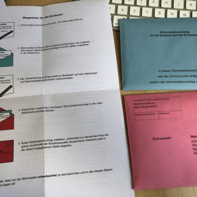 Wahlunterlagen für die Europawahl