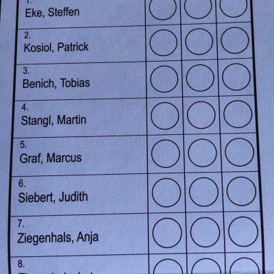 Unsere Liste BLU auf dem Stimmzettel für die STADTRATSwahl